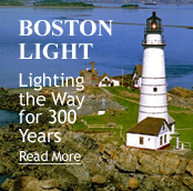 Boston light house lighting the way for 300 years