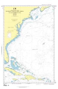 thumbnail for chart Southeast Coast of North America including the Bahamas and Greater Antilles