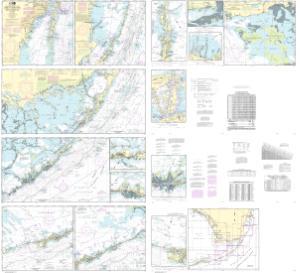 Miami to Marathon and Florida Bay NOAA Nautical Chart 11451