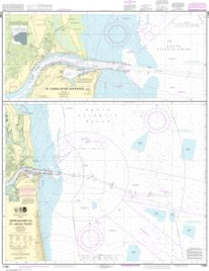 thumbnail for chart Approaches to St. Johns River;St. Johns River Entrance