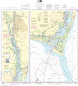 thumbnail for chart Cape Fear River Cape Fear to Wilmington