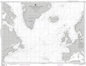 north atlantic ocean northern sheet nga nautical chart 121