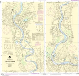 Connecticut River Bodkin Rock To Hartford  NOAA Nautical