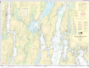 thumbnail for chart Boothbay Harbor to Bath, Including Kennebec River