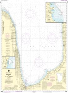 thumbnail for chart Port Huron to Pte aux Barques;Port Sanilac;Harbor Beach