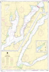 thumbnail for chart Puget Sound-Hood Canal and Dabob Bay