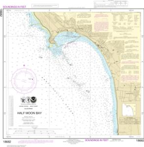 Half Moon Bay NOAA Nautical Chart 18682 OceanGrafix