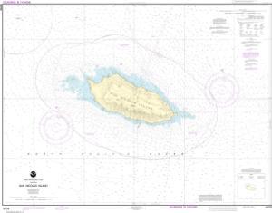San Nicolas Island NOAA Nautical Chart OceanGrafix - Map of san nicolas island and us