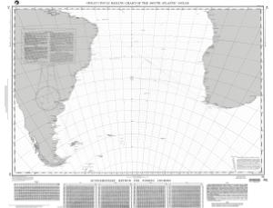 thumbnail for chart Great Circle Sailing Chart of the South Atlantic Ocean