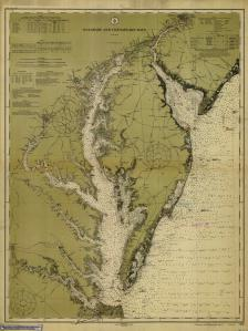 thumbnail for chart VA,1912,Delaware and Chesapeake Bays