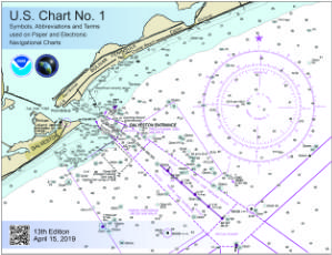thumbnail for chart Nautical chart symbols and terms