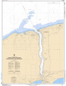 thumbnail for chart LOWER NIAGARA RIVER AND APPROACHES / ET LES APPROCHES