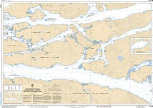 thumbnail for chart Johnstone Strait, Port Neville to/à Robson Bight