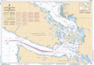 thumbnail for chart Juan de Fuca Strait to/à Vancouver Harbour