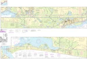 thumbnail for chart Intracoastal Waterway Ellender to Galveston Bay