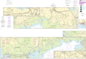 thumbnail for chart Intracoastal Waterway Wax Lake Outlet to Forked Island including Bayou Teche, Vermilion River, and Freshwater Bayou