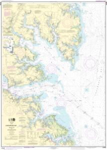Chesapeake Bay Topographic Map.Chesapeake Bay Mobjack Bay And York River Entrance Noaa Nautical