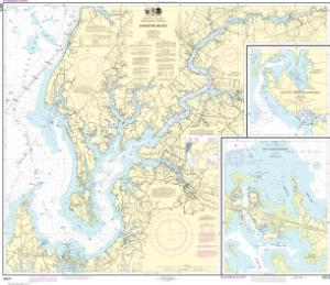 thumbnail for chart Chester River; Kent Island Narrows, Rock Hall Harbor and Swan Creek
