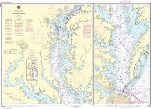 Chesapeake bay noaa nautical chart 12280 oceangrafix