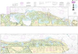 Intracoastal Waterway Little Egg Harbor To Cape May Atlantic City Noaa Nautical Chart 12316