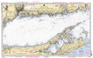 Long island sound eastern part training chart 12354tr oceangrafix