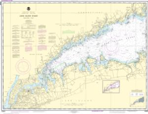 Long island sound western part noaa nautical chart 12363