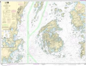 thumbnail for chart Penobscot Bay;Carvers Harbor and Approaches