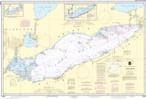 Lake Erie Depth Map OceanGrafix — NOAA Nautical Chart 14820 Lake Erie