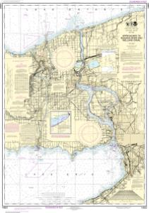 thumbnail for chart Approaches to Niagara River and Welland Canal