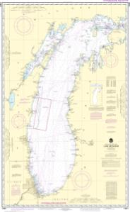thumbnail for chart Lake Michigan (Mercator Projection)