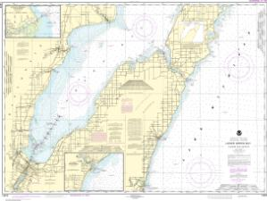 thumbnail for chart Lower Green Bay;Oconto Harbor;Algoma