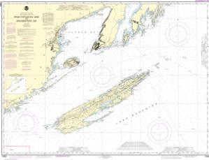 thumbnail for chart Grand Portage Bay, Minn. to Shesbeeb Point, Ont.