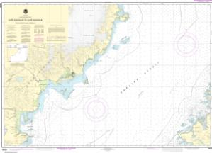 thumbnail for chart Shelikof Strait-Cape Douglas to Cape Nukshak