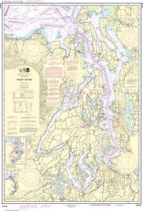 Puget sound noaa nautical chart 18440 oceangrafix