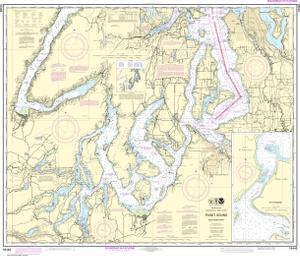 Puget sound southern part noaa nautical chart 18448 oceangrafix