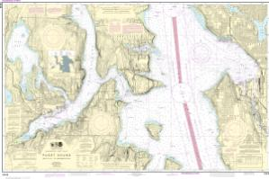 Puget sound seattle to bremerton noaa nautical chart 18449