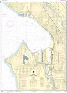 OceanGrafix — NOAA Nautical Chart 18450 Seattle Harbor, Elliott Bay ...