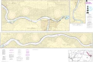 Snake River Washington Map.Snake River Lower Granite Lake Noaa Nautical Chart 18548