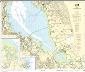 San Francisco Bay Southern Part Redwood Creek Oyster Point Noaa Nautical Chart 18651