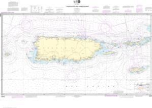 Puerto Rico and Virgin Islands | NOAA Nautical Chart | 25640 ...