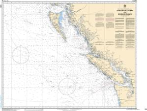 thumbnail for chart Juan de Fuca Strait to/à Dixon Entrance