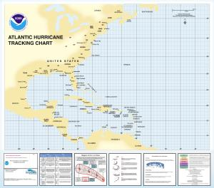 photo about Hurricane Tracking Maps Printable referred to as OceanGrafix Chart Western_Atlantic Atlantic Hurricane