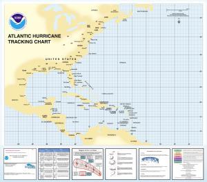 image about Hurricane Tracking Maps Printable known as OceanGrafix Chart Western_Atlantic Atlantic Hurricane